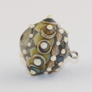 Organic amulett-egyedi lámpagyöngy medál (MoroBarbaraGlass) - Meska.hu