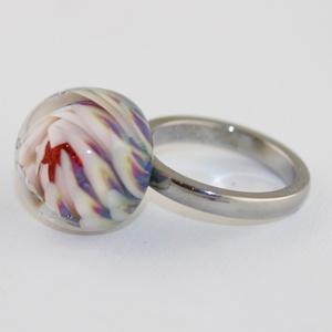 Minden napra egy gyűrű ! - rózsabimbó (MoroBarbaraGlass) - Meska.hu