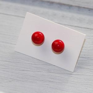 Piros pötty- lámpagyöngy fülbevaló (MoroBarbaraGlass) - Meska.hu