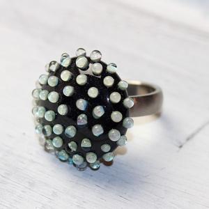 Minden napra egy gyűrű ! - zöld buborékos (MoroBarbaraGlass) - Meska.hu