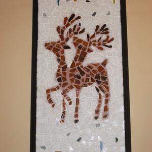 Mozaik falikép - Rénszarvasok - otthon & lakás - dekoráció - kép & falikép - Meska.hu