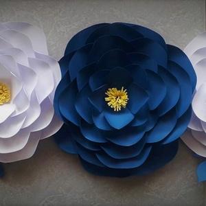 Futó virág dekor, Otthon & Lakás, Dekoráció, Falra akasztható dekor, Mindenmás, Papírművészet, 60-70 cm-es futó virág dekoráció papírból. Kézzel és szeretettel készített dekoráció neked....., Meska