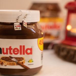 Nutella - lógós fülbevaló (mosolygyar) - Meska.hu