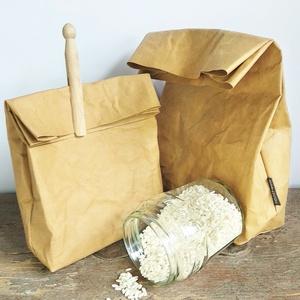 """Facsipeszes bevásárló zsák \""""L\"""" // Ursus, Otthon & Lakás, Tárolás & Rendszerezés, Varrás, Papírművészet, Minimalista bevásárló zsák 100 % mosható papírból. \n\nSzép és tartós, tároló, vegán barát tárolási me..., Meska"""