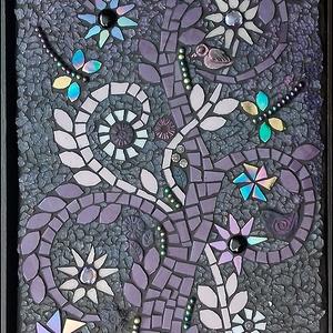 Életfa - mozaikos kép , Otthon & Lakás, Dekoráció, Kép & Falikép, Mozaik, Minden növényi ábrázolás közül az életfa a legösszetettebb és legegyetemesebb jelentésű. Utal életre..., Meska