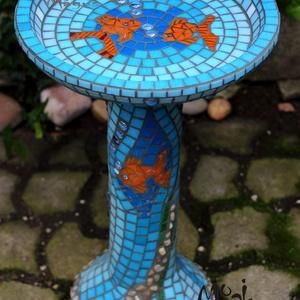 Vízi világ - madáritató, fürdető (MozaikMagus) - Meska.hu