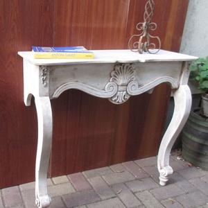 Barokk faragott konzolasztal 31.000 Ft, Otthon & Lakás, Bútor, Asztal, Famegmunkálás, Festett tárgyak, Gyönyörű faragott konzolasztal. Barokk stílusú, különleges hangulatú asztal. Ő már vihető, de rendel..., Meska