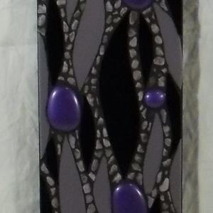 Csupa lila - üvegmozaik falidísz (MozaRozi) - Meska.hu