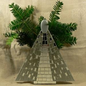 Karácsonyi angyal - üvegmozaik dísztárgy, Otthon & Lakás, Díszüveg, Dekoráció, Mozaik, Mindenmás, Meska