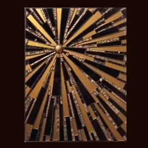 Kitörés - üvegmozaik falidísz, Festmény vegyes technika, Festmény, Művészet, Mozaik, Mindenmás, Üvegmozaik falidísz akasztóval\n\nMérete: 24*31*2cm\n\nMéretre vágott, feketére pácolt fa alapra ragaszt..., Meska