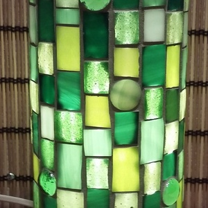 Üvegmozaik lámpa - zöld (MozaRozi) - Meska.hu