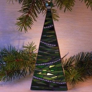 Karácsonyi üvegmozaik mécsestartó, Otthon & Lakás, Gyertya & Gyertyatartó, Dekoráció, Mozaik, Mindenmás, Meska
