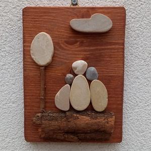 Családi idill 3 fős - kavicskép, Otthon & Lakás, Dekoráció, Kép & Falikép, Mozaik, Mindenmás, Meska