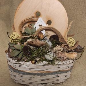 Dekoráció gombokkal, Otthon & Lakás, Dekoráció, Asztaldísz, Virágkötés, Asztali dekoráció. Kézzel készített egyedi dísz. Tedd hangulatosabbá otthonod, környezeted vagy aján..., Meska