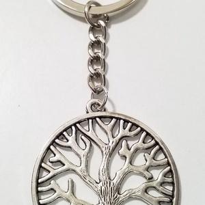 Életfa kulcstartó , Egyéb, Ékszerkészítés, A kulcstartó teljes mérete 8cm\nAz életfa átmérője 3cm , Meska