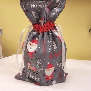 Christmas! Textil mikulás zacskó, Otthon & Lakás, Karácsony & Mikulás, Karácsonyi csomagolás, Varrás, Christmas\nTextilből készült mikulás zacskó. Az ünnepek után nem kell eldobni, újra használható.\nAkár..., Meska