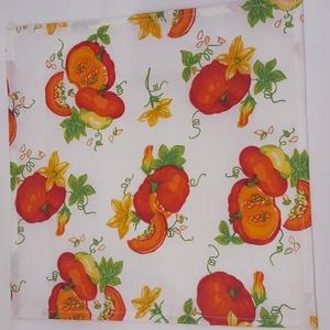 NOWASTE! sütőtökös textil  zsebkendő 5 db, NoWaste, Textilek, Kendő, Varrás, No waste, sütőtökös textil zsebkendő, minden napra egy.\n\nÓvjuk környezetünket, minél többen használj..., Meska