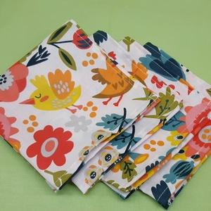 NOWASTE! Textil szalvéta  4 db, NoWaste, Textilek, Kendő, Varrás, No waste, textil szalvéta\n\nÓvjuk környezetünket, minél többen használjunk újra használható szalvétát..., Meska