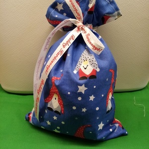 Karácsony Textil mikulás zacskó, Karácsony & Mikulás, Karácsonyi csomagolás, Varrás, Christmas\nTextilből készült mikulás zacskó. Az ünnepek után nem kell eldobni, újra használható.\nAkár..., Meska