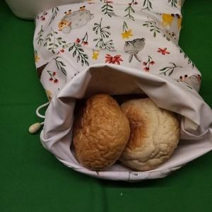 ZEROWASTE  kenyér/pékáru  textil zsák, Táska & Tok, Bevásárlás & Shopper táska, Shopper, textiltáska, szatyor, Varrás, Textil kenyér/pékáru tartó zsák, frissen tartó! \n\nMérete: 26x39 cm. \n\nKívül pamut vászon, belül légá..., Meska