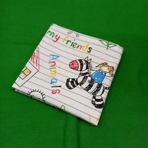 NOWASTE! Textil szalvéta 4 db, Táska & Tok, Uzsonna- & Ebéd tartó, Szendvics csomagoló, Varrás, No waste,  textil szalvéta\n\nKedves, vidám gyermekrajz mintás textil szalvéta.\nÓvjuk környezetünket, ..., Meska