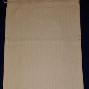 Kenyeres zsák, NoWaste, Textilek, Bevásárló zsákok, zacskók , Textil tároló, Varrás, Zengővárkonyi szőttesből készített kenyeres zsák.\nMérete: 31X35 cm +4 cm a behúzó szélessége...., Meska