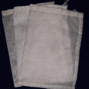 Ökozsacskók , NoWaste, Bevásárló zsákok, zacskók , Textilek, Varrás, 3 darab újrahasznosított anyagból készült ökozacskó, bevásárlásokhoz, tároláshoz.\n\nMéretük: 18x25 cm..., Meska