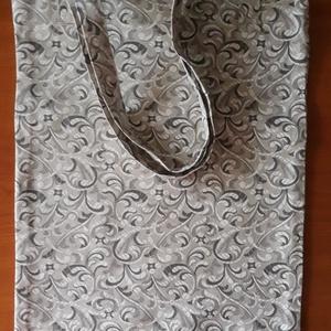 Mintás szatyor , NoWaste, Bevásárló zsákok, zacskók , Textilek, Táska, Divat & Szépség, Táska, Szatyor, Varrás, Vastagabb vászonból készült szatyor. A füle saját anyagából készült,  vállra akasztható. Oldala alja..., Meska