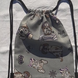 Kutyusos hátizsák - sulisoknak, ovisoknak, Ovis tornazsák, Ovis zsák & Ovis szett, Játék & Gyerek, Varrás, Kutyus hátizsák, mely vastagabb vászonyból készült, pamutzsinórral.\n\nMéretei:\nszélessége: 26 cm\nhoss..., Meska
