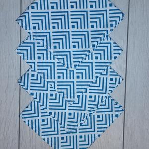 Geometriamintás textilszalvéta , Otthon & Lakás, Konyhafelszerelés, Szalvéta, Varrás, Geometriamintás  textilszalvéta \n\nMérete: 27X27 cm\n\nAz ár 4 darab szalvétára vonatkozik.\n\nA postaköl..., Meska