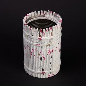 Ceruza tartó, Otthon & lakás, Dekoráció, Természetes és újrahasznosított  anyagokból létrehozott tároló amelyet hallássérült emberek készítet..., Meska
