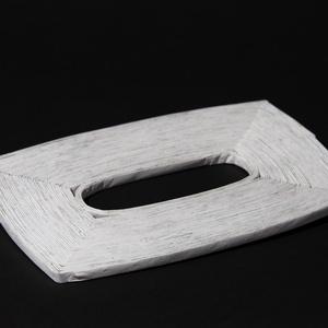 Papir zsebkendő tartó, Otthon & lakás, Dekoráció, Természetes és újrahasznosított  anyagokból létrehozott tároló amelyet hallássérült emberek készítet..., Meska