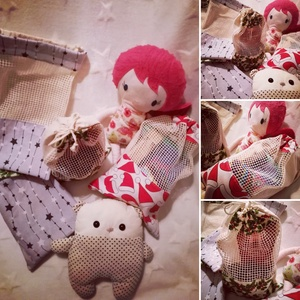 Karácsonyi és Mikuláscsomag csomagoláshoz mintás bevásárlózsák , NoWaste, Bevásárló zsákok, zacskók , Varrás, Azt találtam ki, hogy a karácsonyi csomagolás ne csak környezetbarát legyen, hanem hasznos is. Ezért..., Meska