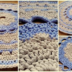 Jázmin minta, Szőnyeg, Lakástextil, Otthon & Lakás, Horgolás, Egyedi mintájú,  tervezésű portugál pamutfonalból készült szőnyeg.\n\nA képen láthatót rendelésre kész..., Meska