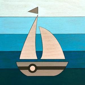 Fából készült képek tengerész stílusban, Gyerek & játék, Dekoráció, Otthon & lakás, Lakberendezés, Falikép, Famegmunkálás, Festett tárgyak, Különböző mintájú fából készült fal képek tengerész stílusban. 20x20 vagy 25x25 cm méretben. Színek:..., Meska