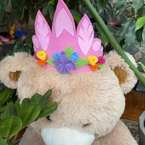Tavasz tündér korona, Farsang, Gyerek & játék, Játék, Baba játék, Varrás, Filcből készítettem ezt a lányoknak való fejdíszt, némi csipkével. \n\nKis királylánynak vagy tündérne..., Meska