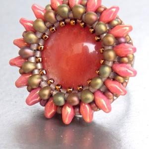Cseresznyéskert - gyöngyhímzett gyűrű (Muttery) - Meska.hu