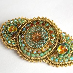 Jaipur -gyöngy hímzett  hajcsat (Muttery) - Meska.hu