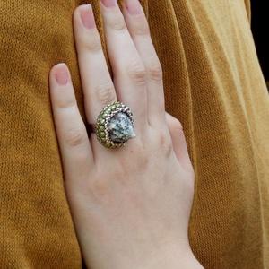 Seashell - gyöngyhímzett gyűrű (Muttery) - Meska.hu