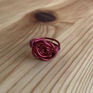 Rózsás gyűrű, Ékszer, Gyűrű, Figurális gyűrű, Fémmegmunkálás, Ékszerkészítés, Meska