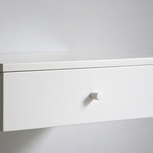 Lebegő fehér fiókos éjjeliszekrény (MyBetterShelf) - Meska.hu