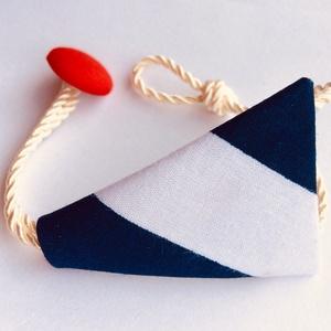 Karkötő textilből, Ékszer, Karkötő, Mindenmás, Pamutvászonból készült karkötő, tengerész stílusban!\n\nA nyári tengerész stílusú kollekcióm egyik dar..., Meska