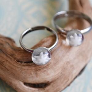 Jégvirág millefiori anya-lánya gyűrű, Szoliter gyűrű, Gyűrű, Ékszer, Ékszerkészítés, Üvegművészet, Millefiori üvegből készült anya-lánya gyűrű páros.\n\nA gyerekgyűrű átmérője 16 mm.\nA gyűrűalapok nikk..., Meska