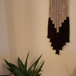 Modern makramé falikép, Otthon & Lakás, Dekoráció, Falra akasztható dekor, Csomózás, Meska