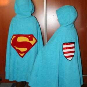 Supermanes törölköző, Törölköző, Fürdőszoba, Otthon & Lakás, Varrás, Szuperhős és Marvel rajongó gyerekeknek és apukáknak ajánlom figyelmébe ezt a törölközőt, kifogót. B..., Meska