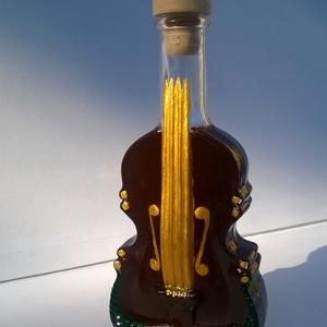 Dallamok szárnyán, Díszüveg, Dekoráció, Otthon & Lakás, Üvegművészet, Dallamok szárnyán egy dekoratív üveg műanyag dugóval amely már önmagában is remek dísz, de feltöltve..., Meska
