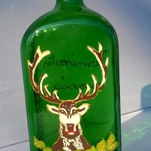 """Vadas üveg, Férfiaknak, Sör, bor, pálinka, Üvegművészet, Vadas üveg egy mutatós üveg amelyben remekül mutat   bármilyen \""""természetes orvosság\"""" Akrillal dekor..., Meska"""