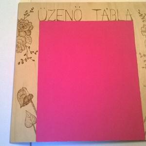 Pink üzenő tábla, Dekoráció, Otthon & lakás, Dísz, Lakberendezés, Famegmunkálás, Gravírozás, pirográfia, Pink üzenő tábla egyszerre ötletes és romantikus.Remek módja,hogy tudassuk a többiekkel az elképzelé..., Meska