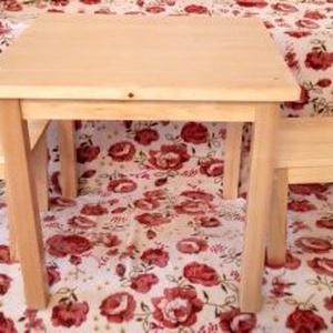 Kisgyereknek asztal szett, Gyerek & játék, Gyerekszoba, Gyerekbútor, Játék, Fajáték, Famegmunkálás, Fotó, grafika, rajz, illusztráció, Kisgyereknek asztal szett egy egyedi asztalos által készített dekoratív, strapabíró valódi fából kés..., Meska
