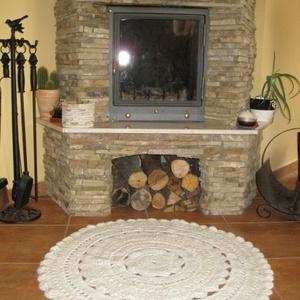 Keleti hangulatú szőnyeg, Szőnyeg, Lakástextil, Otthon & Lakás, Horgolás, 30% gyapjú tartalmú szőnyegfonalból horgoltam ezt a nagyon szép kerek szőnyeget.\nMindenhol nagyon sz..., Meska